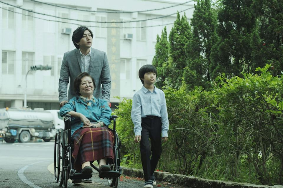 "Taiwanese LGBTQ film Dear Tenant by director Cheng Yu-chieh revolves around the unusual but moving relationship between Jian-yi (Mo Tzu-yi) and his ""adopted"" son (Pai Jun-yin) in the form of his dead partner's child, You-yu. Jian-yi faces homophobic discrimination as he is investigated for the death of You-yu's grandmother, Hsiu-yu (Chen Shu-fang). (Photo: Golden Village Pictures)"