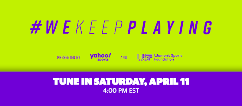 Yahoo Sports #WeKeepPlaying this Saturday