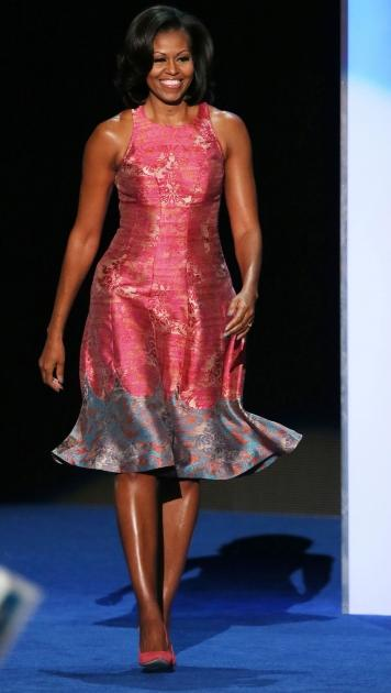 First Lady Michelle Obama takes the stage during day one of the Democratic National Convention in Charlotte, North Carolina on September 4, 2012 -- Getty Premium