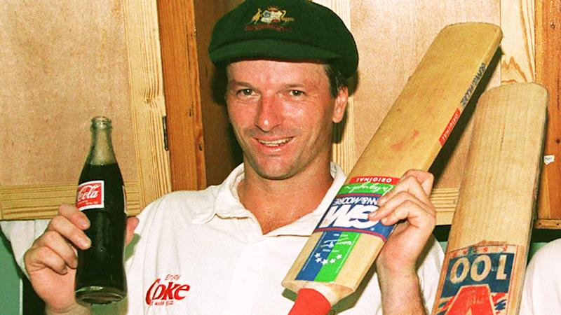 Steve Waugh, pictured here in the dressing room in the West Indies in 1995.