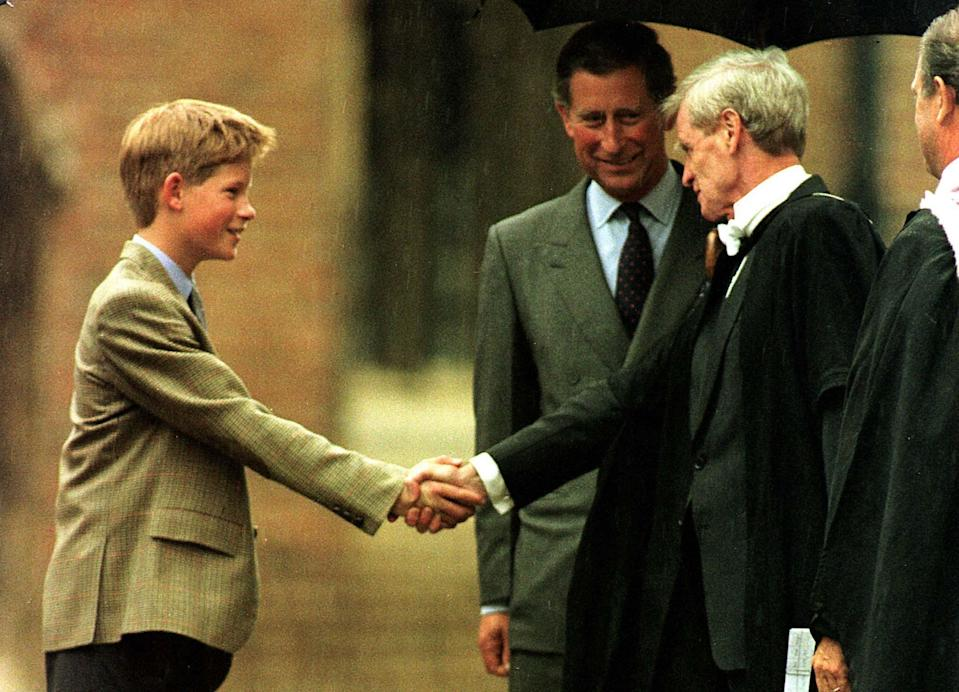Harry followed in his big brother's footsteps and attended the Windsor-based boarding school. <em>[Photo: PA]</em>