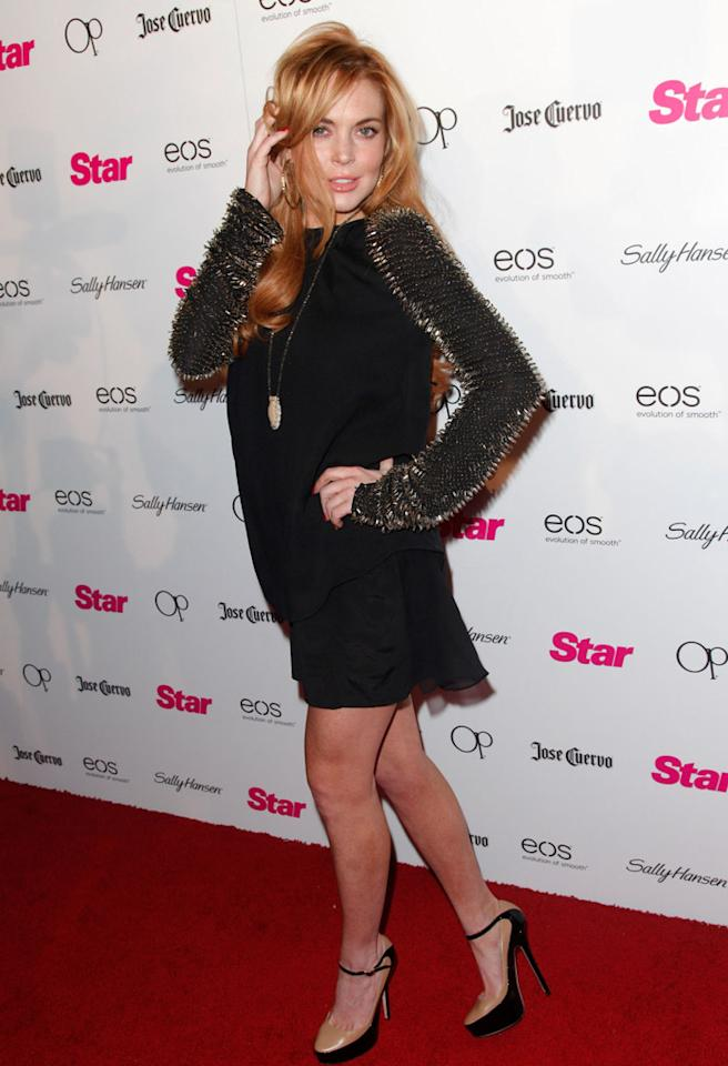 HOLLYWOOD, CA - APRIL 24:  Actress Lindsay Lohan attends Star Magazine's 'All Hollywood' event at AV Nightclub on April 24, 2012 in Hollywood, California.  (Photo by Imeh Akpanudosen/Getty Images)