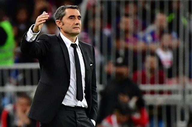 Ernesto Valverde is believed to be very close to the sack at Barcelona, with a board meeting on Monday tipped to seal his fate (AFP Photo/Giuseppe CACACE)