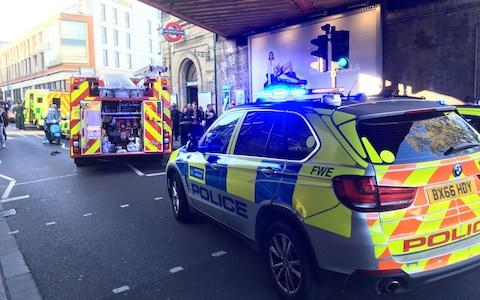 Emergency services outside Parsons Green station - Credit: Richard Aylmer-Hall/PA