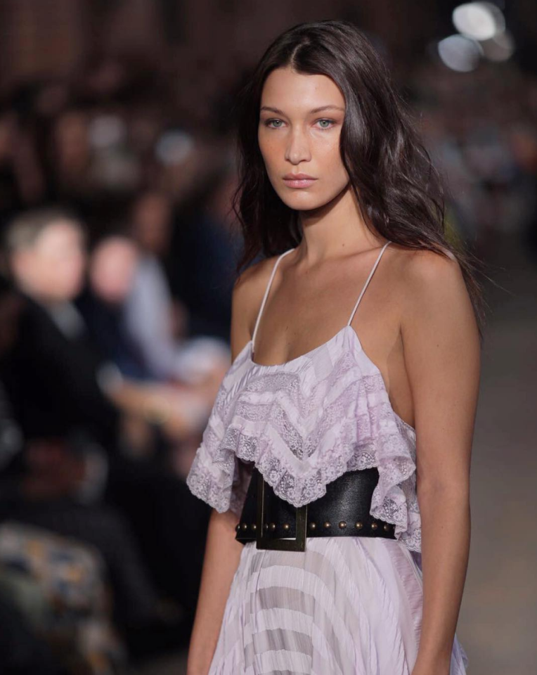 <p>The youngest Hadid sister made yet another Milan appearance at Philosophy. <i>[Photo: Instagram/philosophyofficial]</i></p>