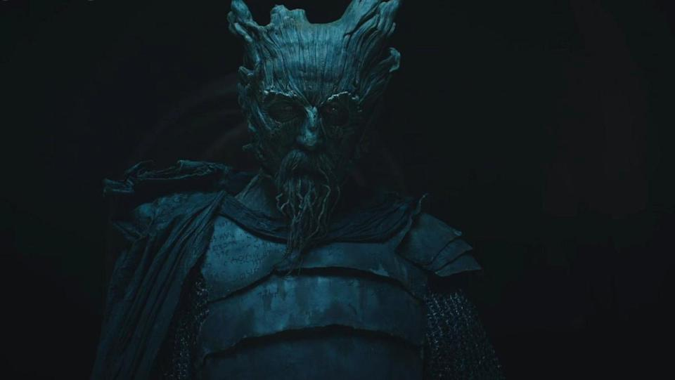 The creepily solid Green Knight in the movie of the same name.
