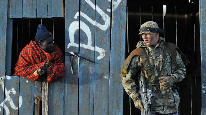 A soldier and a Kenyan man were hired to play
