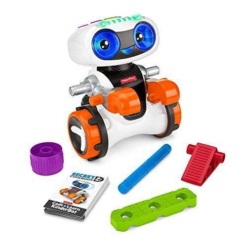 """<p><strong>Fisher-Price</strong></p><p>amazon.com</p><p><strong>$59.99</strong></p><p><a href=""""https://www.amazon.com/dp/B07MFRD29W?tag=syn-yahoo-20&ascsubtag=%5Bartid%7C10055.g.203%5Bsrc%7Cyahoo-us"""" rel=""""nofollow noopener"""" target=""""_blank"""" data-ylk=""""slk:Shop Now"""" class=""""link rapid-noclick-resp"""">Shop Now</a></p><p>With this early coding toy, kids can do more advanced activities as they get older. They can start by """"coding"""" a path for the robot to take. Then, they can use the Kinderbot to solve different challenges. Finally, a """"secret code"""" level lets them unlock more learning, like how to make shapes and turn the Kinderbot into different characters. <em>Ages 3+</em></p>"""