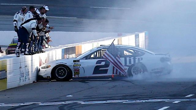 Victory at the STP 500 was Brad Keselowski's second win of the NASCAR season.
