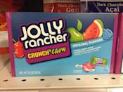 <p>Who doesn't love Jolly Rancher's long-lasting hard candies? But the treats became even more fun to eat with the release of Jolly Rancher Bites, which come in soft chews, sour fruit-shaped candies, and gummies with fruity filling. Our personal favorite might be the Crunch 'n Chew variety which gives you a hard-candy outside and chewy core.</p>