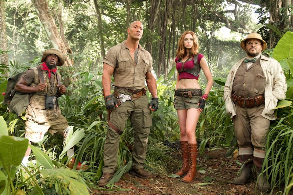 "<p><strong><a href=""https://www.popsugar.com/latest/Jumanji"" class=""link rapid-noclick-resp"" rel=""nofollow noopener"" target=""_blank"" data-ylk=""slk:Jumanji: Welcome to the Jungle"">Jumanji: Welcome to the Jungle</a></strong> puts a new twist on the beloved Robin Williams-led original. This time, the kids are actually put INTO the game by way of body-double avatars. While we all can't swap bodies with <a href=""http://www.popsugar.com/Dwayne-Johnson"" class=""link rapid-noclick-resp"" rel=""nofollow noopener"" target=""_blank"" data-ylk=""slk:Dwayne Johnson"">Dwayne Johnson</a> or <a href=""http://www.popsugar.com/Kevin-Hart"" class=""link rapid-noclick-resp"" rel=""nofollow noopener"" target=""_blank"" data-ylk=""slk:Kevin Hart"">Kevin Hart</a>, the film similarly has an out-of-body awakening for the teens who uncover the mystical video game while in detention.</p> <p><span>Watch <strong>Jumanji: The Next Level</strong> on Amazon Prime Video</span>.</p>"