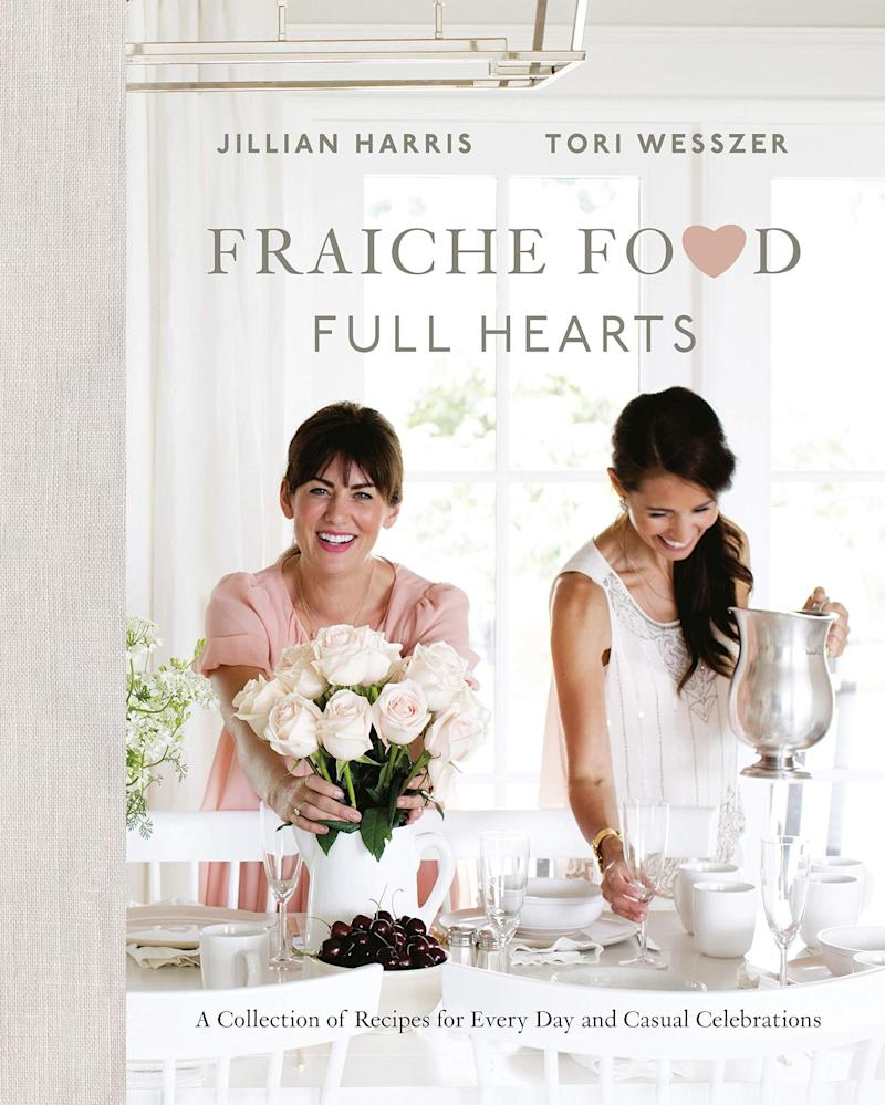 """If your gift recipient is a Jillian Harris fan (who isn't? Her Instagram is #MajorGoals), then they will probably love this beautiful cookbook, co-written by Harris' friend, Tori Wesszer. And if they don't cook, that's fine, it also makes a beautiful coffee table book. <a href=""""https://www.amazon.ca/Fraiche-Food-Full-Hearts-Celebrations/dp/0735234302/ref=zg_mg_books_7?_encoding=UTF8&amp;psc=1&amp;refRID=8P28Y5KPANYFF2BE8W8F"""" target=""""_blank"""" rel=""""noopener noreferrer"""">Get it for $23 at Amazon.ca.</a>"""