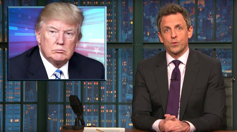 Seth Meyers Dissects Trump White House's 'Misogyny And Hostility' Towards Women
