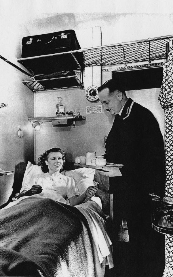"<p>This picture reveals the comforts of a woman staying in a first-class compartment on the Northern Belle, lying in her bed and receiving a professionally prepared breakfast on a tray handed to her by a train attendant. (David Meara / Amberley Publishing / <a rel=""nofollow"" href=""http://mediadrumworld.com/"">mediadrumworld.com</a>) </p>"