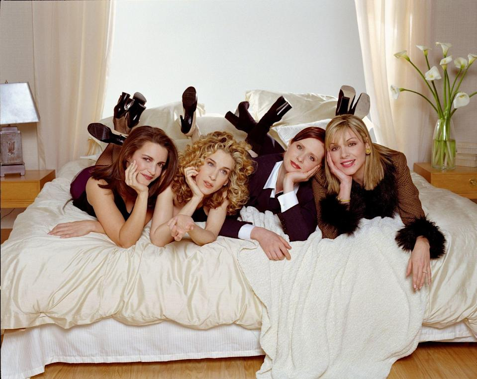 The original girl squad consisted of four career women: Carrie (Sarah Jessica Parker),a columnist obsessed with fashion, dating and relationships;Charlotte (Kristin Davis), an art dealer obsessed with the idea of marriage; Miranda (Cynthia Nixon), a Type-Alawyer; and Samantha (Kim Cattrall),who was a public relations professional with an emphasis onrelations.