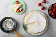 "This easy cheesecake is one part soufflé, one part custard, resulting in a lightly sweet and airy cake that is super simple to make. <a href=""https://www.epicurious.com/recipes/food/views/three-ingredient-japanese-cheesecake-56389916?mbid=synd_yahoo_rss"" rel=""nofollow noopener"" target=""_blank"" data-ylk=""slk:See recipe."" class=""link rapid-noclick-resp"">See recipe.</a>"