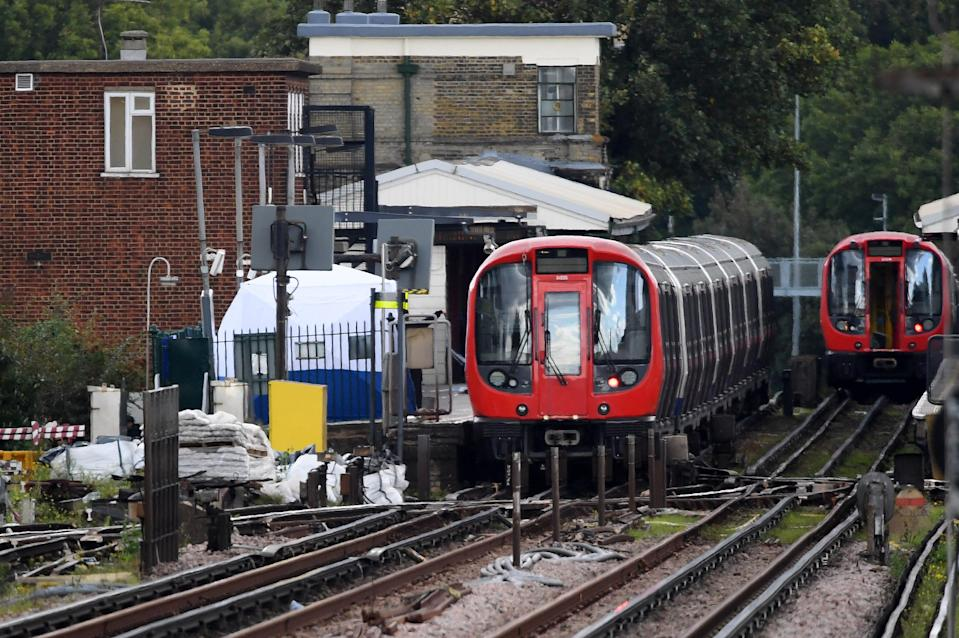 Parsons Green Underground Station, after several people were injured after an explosion on a tube train. (Getty Images)