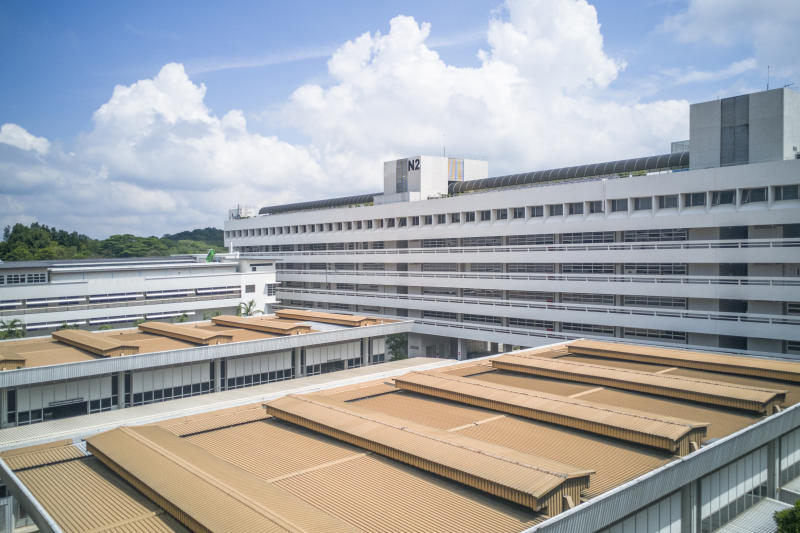 Campus view in Nanyang Technological University in Singapore. NTU is one of the two largest public universities in Singapore.