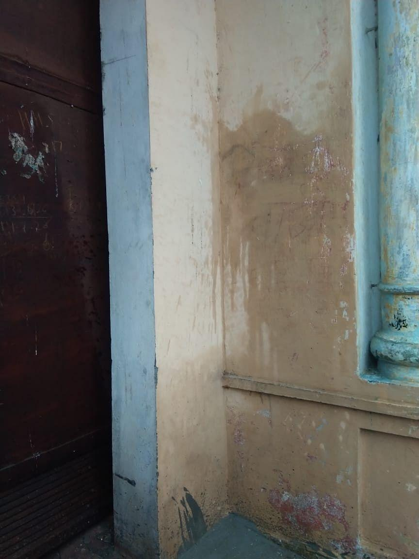 """<div class=""""paragraphs""""><p>The word """"Atankwadi"""" scribbled on the wall of Praveen's house</p></div>"""