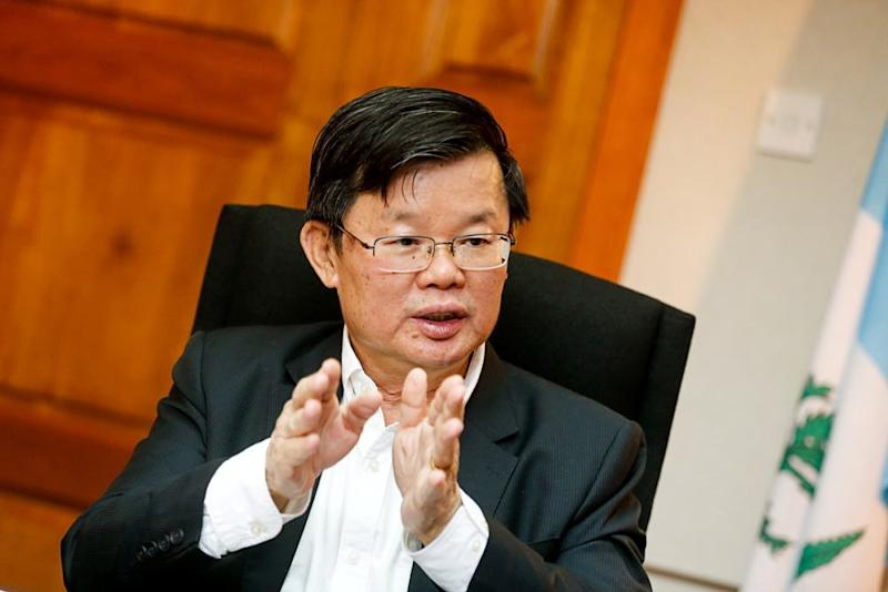 Penang Chief Minister Chow Kon Yeow speaks to Malay Mail at his office in George Town April 12, 2019. ― Picture by Sayuti Zainudin