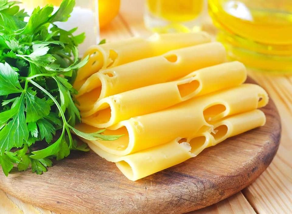 Cheese slices herbs