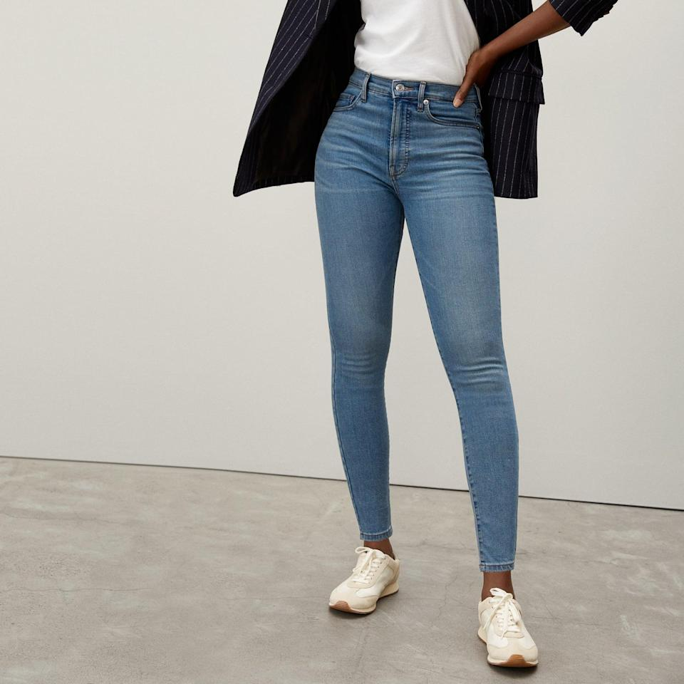 <p>The <span>Everlane Authentic Stretch High-Rise Skinny</span> ($78) combines a figure-hugging fit with a comfortable stretch. Plus, they come in <span>extended</span> sizes, too.</p>