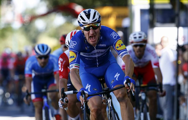 Elia Viviani Tour de France win