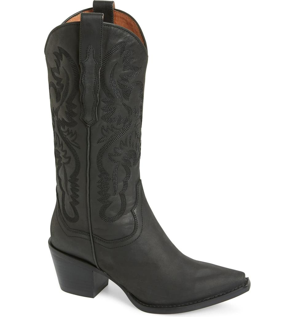 <p>These tall <span>Jeffrey Campbell Dagget Western Boots</span> ($235) are so cool. The black is super versatile, but they also come in a <span>bunch of colors</span> if you want to have some fun.</p>