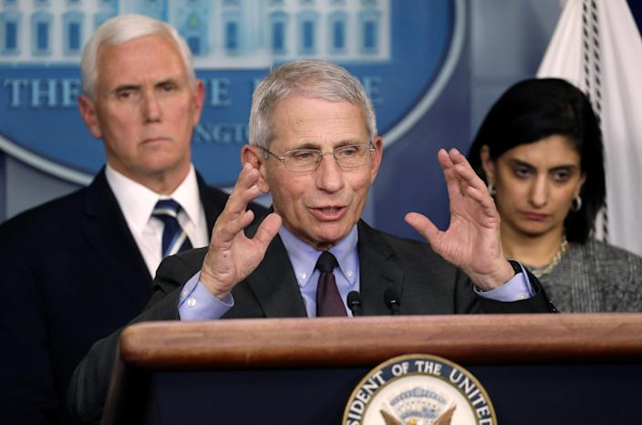 Dr. Anthony Fauci, director of the NIH National Institute of Allergy and Infectious Diseases. (Leah Millis/Reuters)