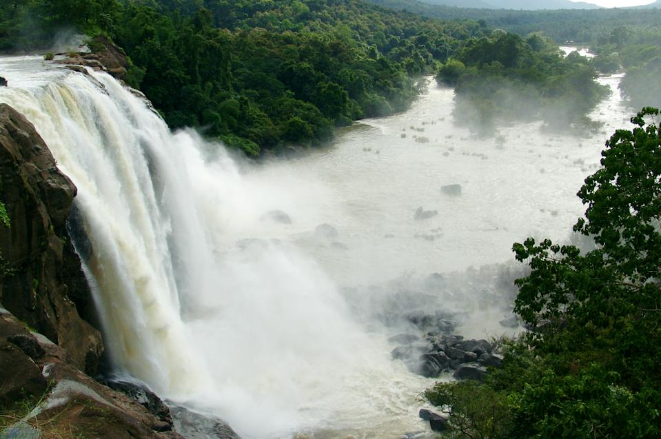 View of Athirappilly waterfall.