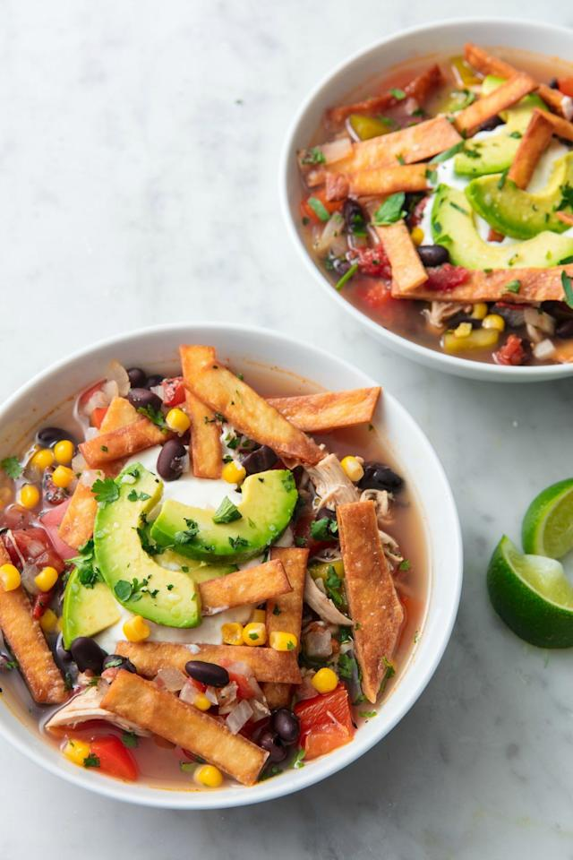 "<p>A perfect rainy day dinner.</p><p>Get the recipe from <a href=""https://www.delish.com/cooking/recipe-ideas/recipes/a411/tortilla-soup-recipe/"" target=""_blank"">Delish</a>.</p>"