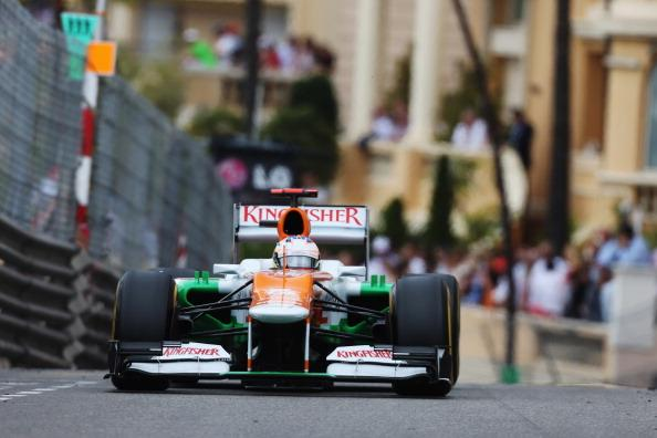 Paul di Resta of Great Britain and Force India drives during the Monaco Formula One Grand Prix at the Circuit de Monaco on May 27, 2012 in Monte Carlo, Monaco. (Photo by Mark Thompson/Getty Images)