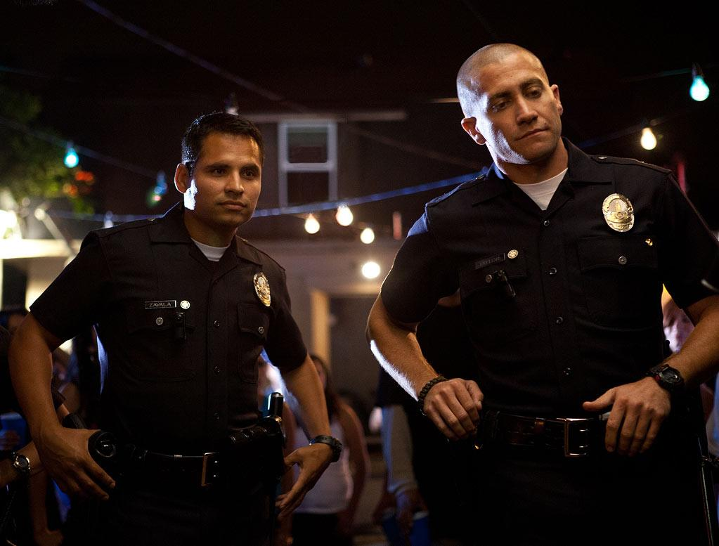 """ End of Watch "" Release date: September 21 Starring: Jake Gyllenhaal, Michael Pena, and Anna Kendrick"
