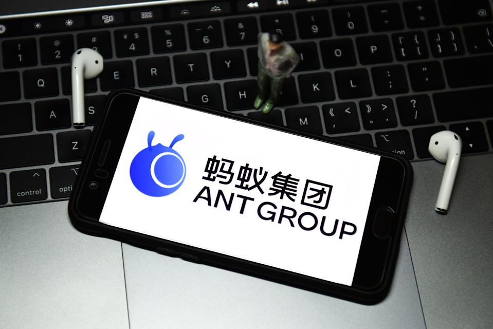 Ant Group's IPO has been suspended after co-founder Jack Ma met with regulators in China. Illustration: Sheldon Cooper/SOPA/LightRocket via Getty