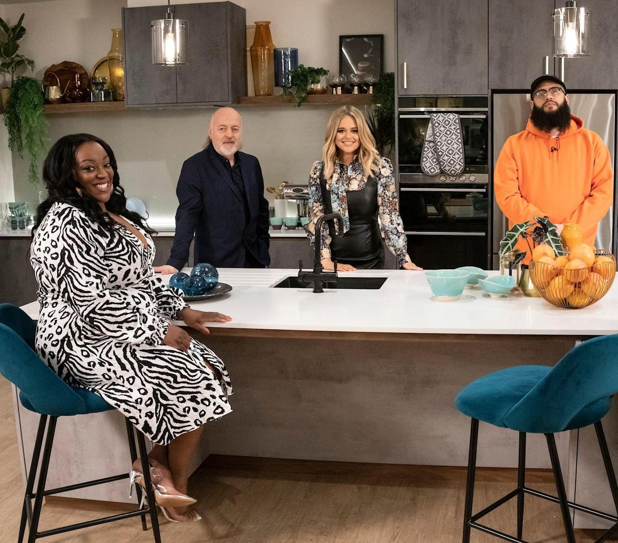 Judi Love, Bill Bailey, Emily Atack and Jamali Maddix (Expectation/BBC/PA)