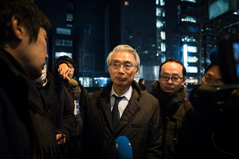 Junichiro Hironaka was appointed in a shake-up of Ghosn's legal team in February (AFP Photo/Behrouz MEHRI)