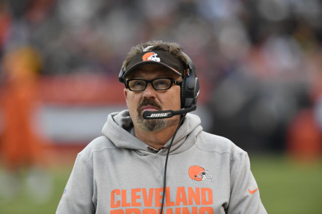 Cleveland Browns defensive coordinator Gregg Williams wasn't pleased with Denzel Ward's tackling technique. (AP)