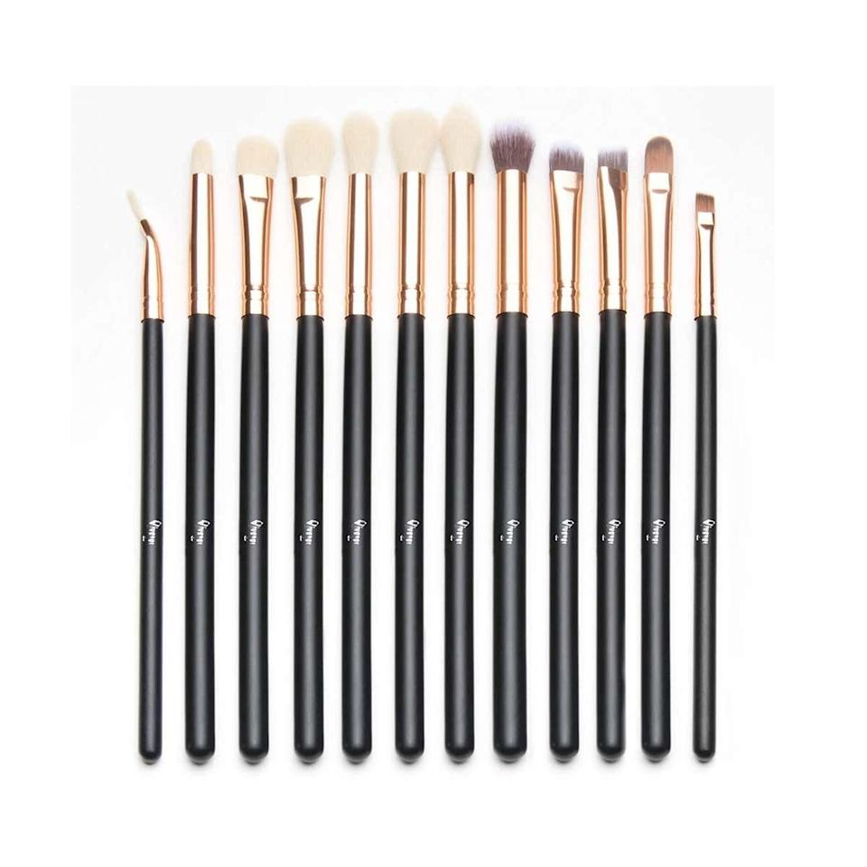 "<p><strong>Star Rating:</strong> 4.5 out of 5</p> <p><strong>Key selling points:</strong> Thanks to durable handles made of premium wood, this eye shadow brush set will stand the test of time, and all the shapes give you total control. Scroll down on the product page to see selfies that show the proof—they showcase just how much precision you can achieve. </p> <p><strong>What customers say:</strong> ""As a professional makeup artist, I must say these are great for professional and personal use. I love the bristles and how soft and manageable they are. They are beautifully designed, they blend very well, and I am truly looking forward to training more with this brand."" —<a href=""https://amzn.to/3sL7Jnp"" rel=""nofollow noopener"" target=""_blank"" data-ylk=""slk:Jessica"" class=""link rapid-noclick-resp""><em>Jessica</em></a></p> $8, Amazon. <a href=""https://www.amazon.com/Qivange-Cosmetics-Eyeliner-Eyeshadow-Blending/dp/B01LY8ICR6/ref=sr_1_20_sspa"" rel=""nofollow noopener"" target=""_blank"" data-ylk=""slk:Get it now!"" class=""link rapid-noclick-resp"">Get it now!</a>"