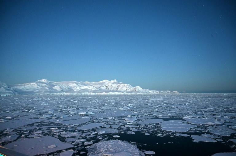 Glaciers are pictured in Antarctica's Chiriguano Bay in November 2019