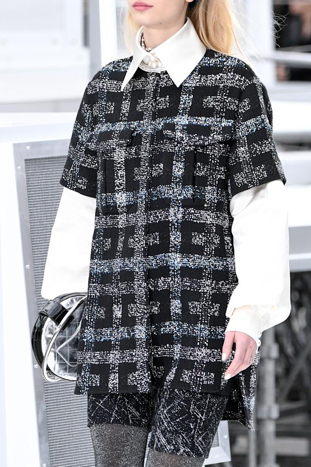 <p>If at first you don't succeed, try, try again to make bouclé cut like athletic pants happen, as Chanel did once again for Fall 2017. But also, like a dad would say about his stock portfolio, diversify, diversify, diversify—and they did, with roomier, more culotte-ish shorts.</p>