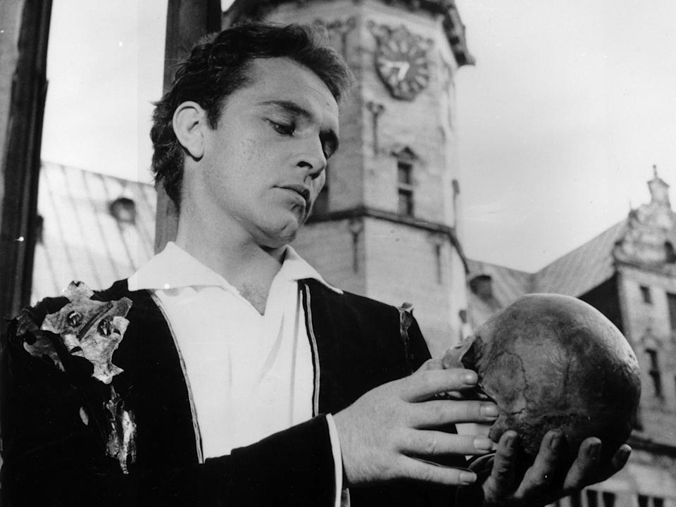 Richard Burton, seen here as Hamlet contemplating a skull, was one of McKellen's forbears in the roleGetty