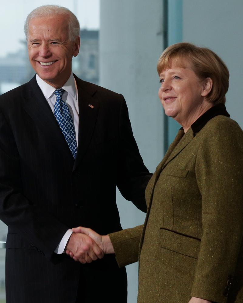 Angela Merkel, Joe Biden