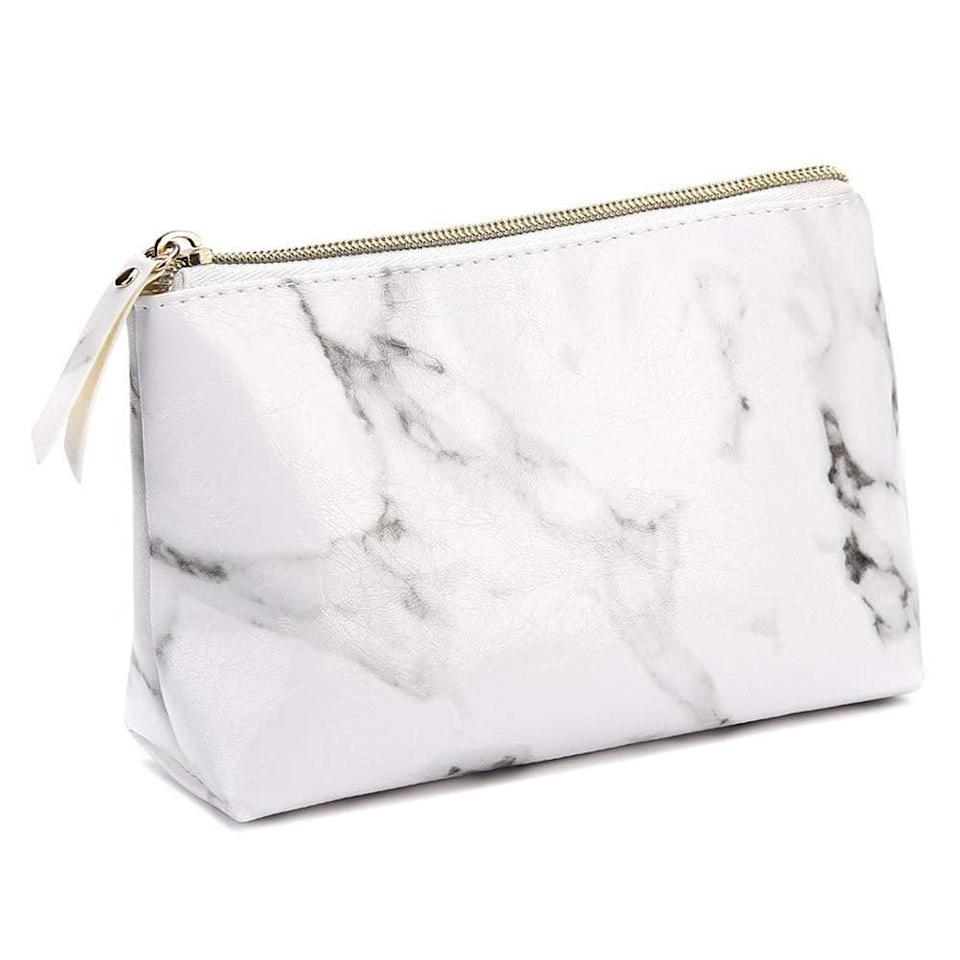 <p>This <span>Marble Makeup Bag</span> ($7) is perfect to hold all of your teen's essentials.</p>