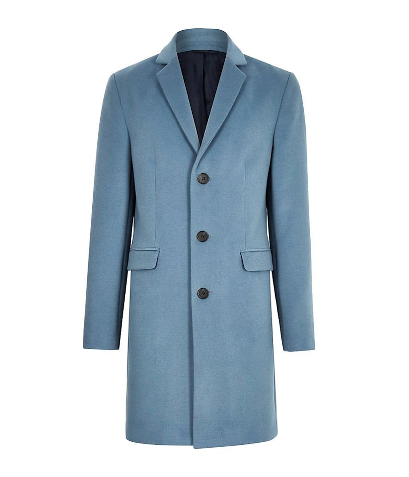 "<p>If you're looking to brighten up your usual all-black winter wardrobe, this coat will do the trick. <br />Shop it: River Island Olly Murs blue wool blend overcoat, $160, <a rel=""nofollow"" href=""https://fave.co/2qwlqbG"">riverisland.com.</a> </p>"