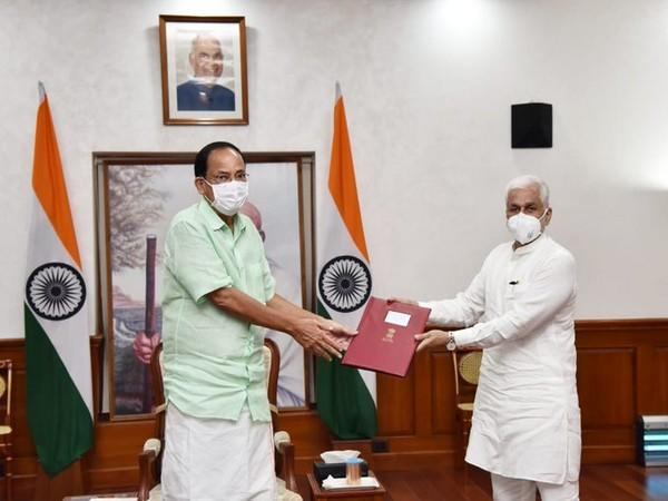 Vijay Sai Reddy, Chairman of Department Related Standing Committee on Commerce meeting Vice President.