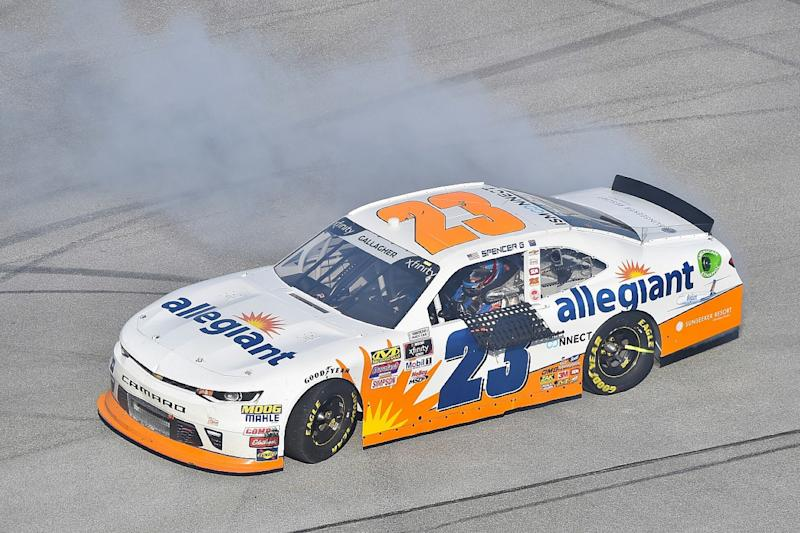 Talladega Xfinity victor Spencer Gallagher suspended for failing drug test