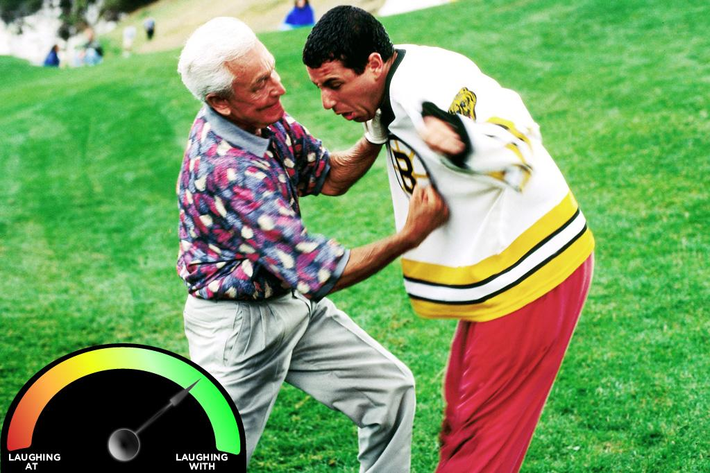 "<b>Bob Barker </b><br>""<a href=""http://movies.yahoo.com/movie/happy-gilmore/"">Happy Gilmore</a>"" (1996)<br>The best Sandler cameo to date has got to be Bob Barker as Happy Gilmore's pugnacious golf partner. Barker is mostly right and 100% entertaining, but while he may be one of the greatest game show hosts to ever hold a mike, he throws an awfully soft punch, and therefore I'm not fully laughing with him."