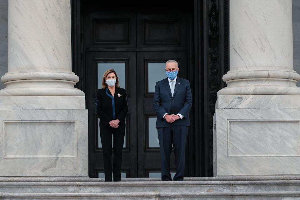 Democratic voters and activist groups are pressing House Speaker Nancy Pelosi (D-Calif.) and Senate Minority Leader Chuck Schumer (D-N.Y.) to use every tool available to stop Trump's Supreme Court nomination. (Photo: Michael A. McCoy via Getty Images)
