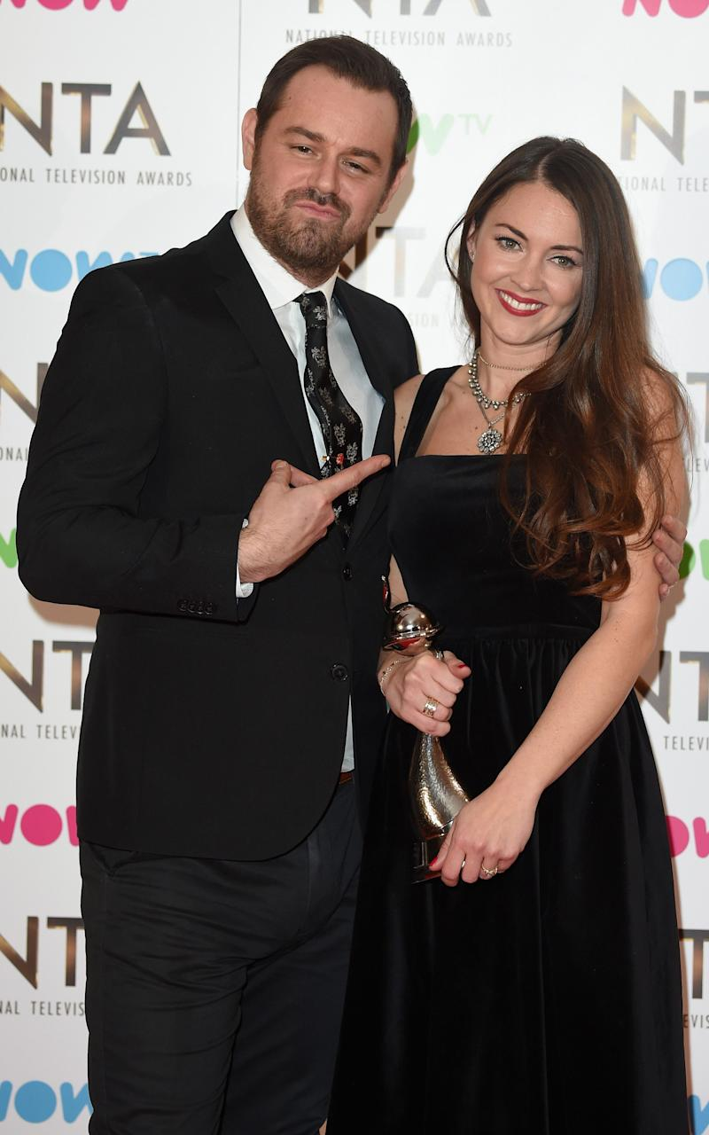 Danny Dyer and Lacey Turner at the National Television Awards in January - Credit: Getty Images