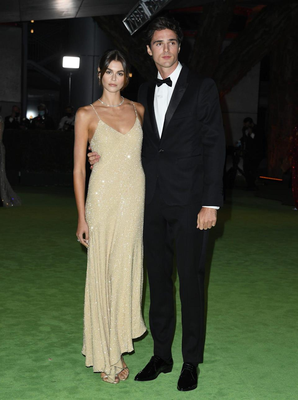 Kaia Gerber and Jacob Elordi walk the red carpet together in September 2021.
